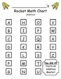 Rocket Math Addition - Progress Tracking Sheet and Flashcards