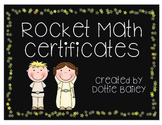 Rocket Math Certificates