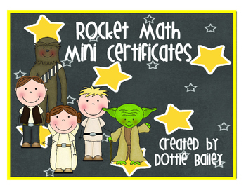 Rocket Math Mini Certificates