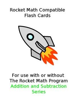 Rocket Math Flash Cards (Addition & Subtraction)