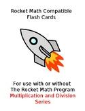 Rocket Math Flash Cards (Multiplication & Division)