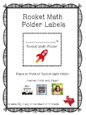 Rocket Math Folder Labels