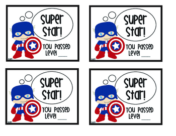 Super Hero Rocket Math Mini Certificates