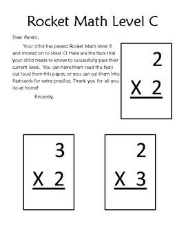 rocket math multiplication flash cards by angela bergeron. Black Bedroom Furniture Sets. Home Design Ideas