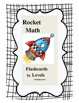 Rocket Math Multiplication Flashcards by Levels (can edit)