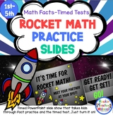 Rocket Math Practice Slides for Math Facts - Timed Tests