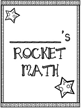 Rocket Math: Score Tracking Sheets