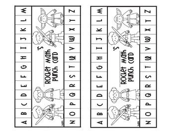 Rocket Math Star Wars Punch Cards