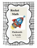 Rocket Math Subtraction Flashcards by Levels (can edit)