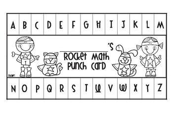 Rocket Math Super Hero Punch Cards