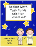 Star Wars Rocket Math Task Cards Addition Levels A-E