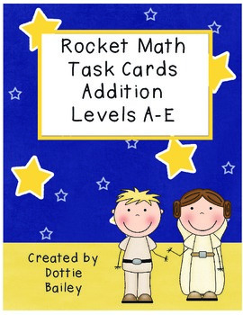 Star Wars Rocket Math Task Cards Addition Levels A-E