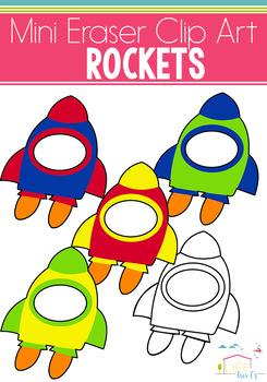 Rocket Mini Eraser Clip Art: Outer Space