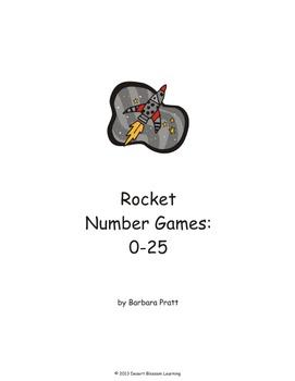 Rocket Number Games: 0-25 Space eBook