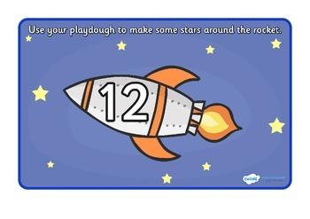 Rocket Playdough Mat (11-20)