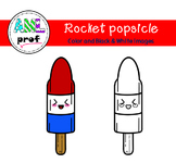 Rocket Popsicle Clipart (summer, été, pop glacé)