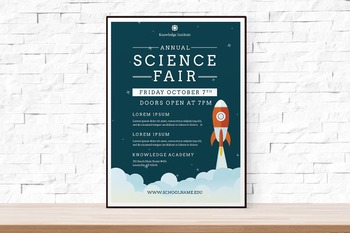 Rocket Science Fair Flyer | Free Download