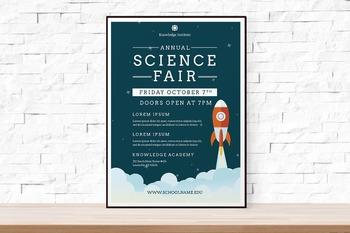 Rocket Science Fair Flyer | Free Download
