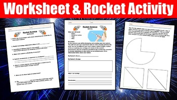 Rocket Science No Prep Lesson with Power Point, Worksheet, and Activity