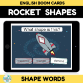 Space Rocket Shape Recognition Boom Cards Distance learning