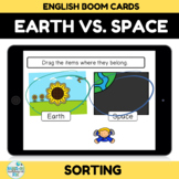 Earth and Space Sort Boom Cards Distance learning