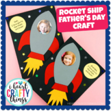 """Rocket Ship Father's Day Craft -""""I love you to the moon and back"""""""