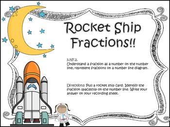 Rocket Ship Fractions on a Number Line!