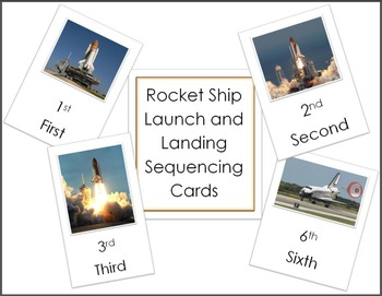Rocket Ship Launch and Landing Sequencing Cards – Space