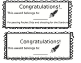 Rocket Ship Math Certificate
