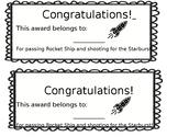 Rocket Ship Math Certificate