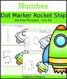 Rocket Ship Number Dot Marker & Counting