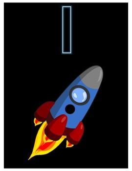 Rocket Ship Playdough Numbers 1-20