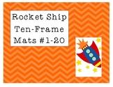 Mini Eraser Rocket Ship Ten-Frame Mats Numbers 1-20