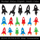 Rocket Ship Vector Clip Art - Space Rockets