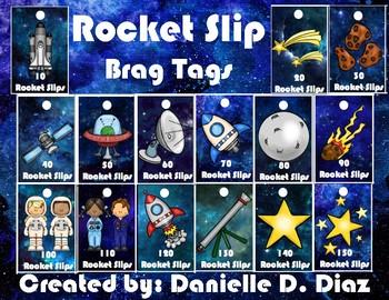 Rocket Slip Brag Tags