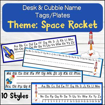 Rocket Space Shuttle Desk / Name / Cubbie Tags