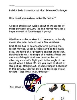 Rocket Straw Stem Challenge