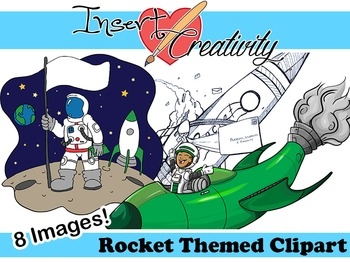 Rocket Themed Clipart