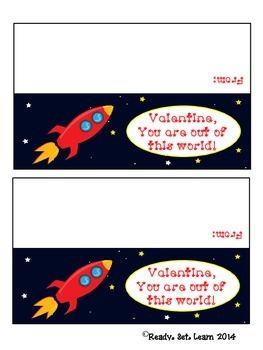 Rocket Valentine's Day Treat Bag Toppers
