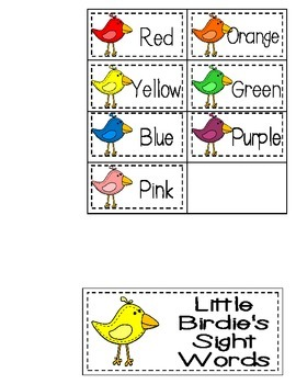 Rocket and Little Yellow Bird's Sight Words {Sight Word Cards ONLY}