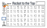 Rocket to the Top Math Number Writing Game 2-12
