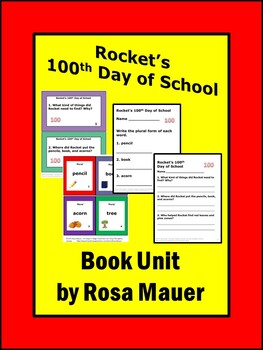 Rocket's 100th Day of School Literacy Comprehension and Vo