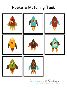 Rockets Matching Folder Game for Early Childhood Special Education
