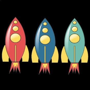 Rockets Retro Styled Clipart