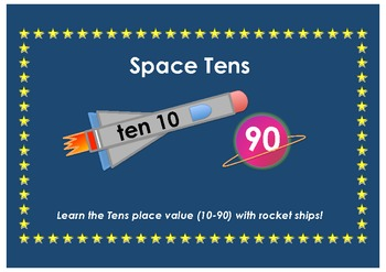 Rocketship and Planets - Math Tens Place Value (1-90)