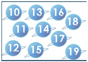 Rocketship and Planets - Math Tens and Ones Place Value (1-29)