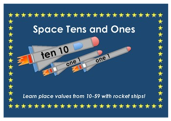 Rocketship and Planets - Math Tens and Ones Place Value (1-59)