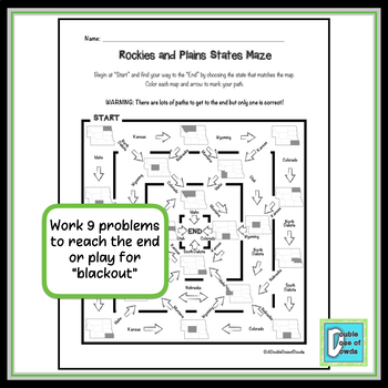 Rockies and Plains States Worksheet