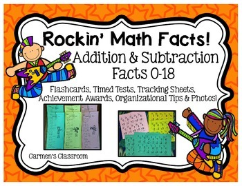 Rockin' Addition and Subtraction Facts 0-18