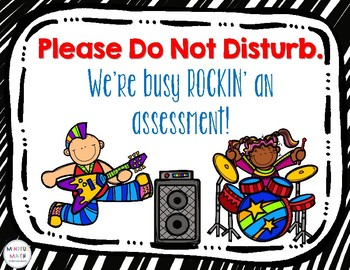 Rockin' An Assessment ~ Door Sign
